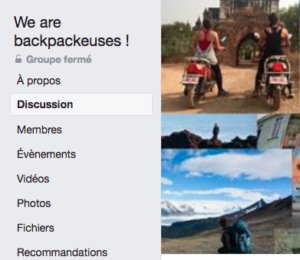 groupe facebook we are backpackeuses