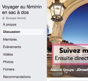 groupe facebook voyager au feminin en sac a dos