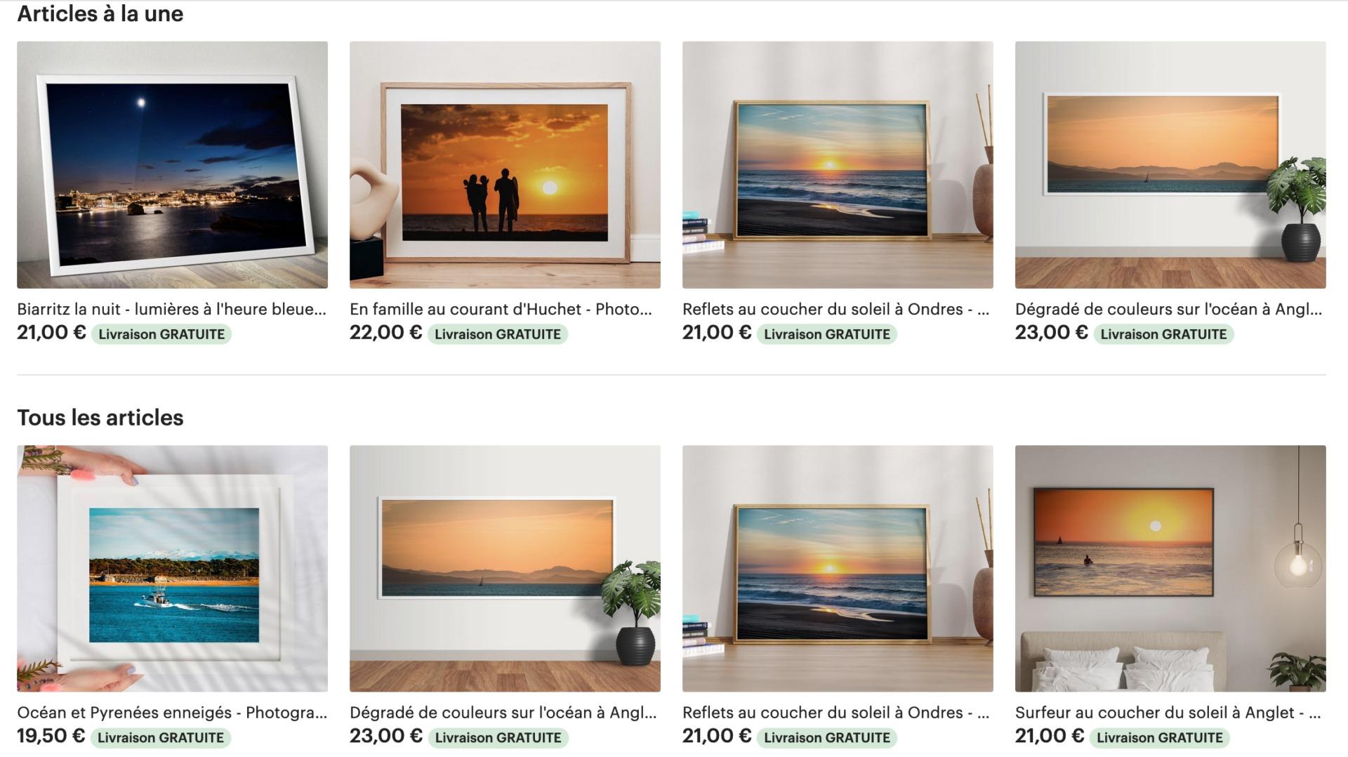 boutique photographie
